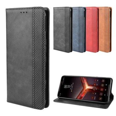 【無殼取代】華碩 ROG Phone2 ZS660KL 自動吸附 插卡 側立 皮套 手機皮套