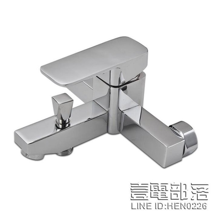 全銅浴缸水龍頭暗裝冷熱開關浴室簡易花灑套裝洗澡三聯淋浴混水閥