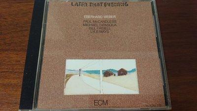 EBERHARD WEBER LATER THAT EVENING1982年經典ecm cd爵士發燒錄音盤寂靜以外最美的聲音ECM1231絕版極罕見西德早期版