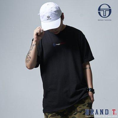 【Brand T】SERGIO TACCHINI 3C SCHEME EMB TEE 黑色*刺繡*短T*義大利*網球
