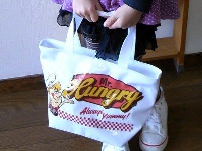 (I LOVE樂多)美國進口 Mr.Hungry 先生飢餓 虛構的美國餐館 防水提袋 送人自用兩相宜