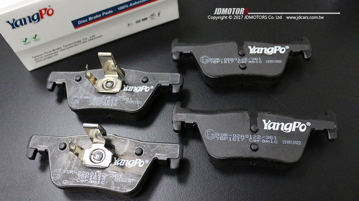 JD-MOTORS 免運 YangPo 陶瓷運動版 後來令片 BMW 320i F30 F31