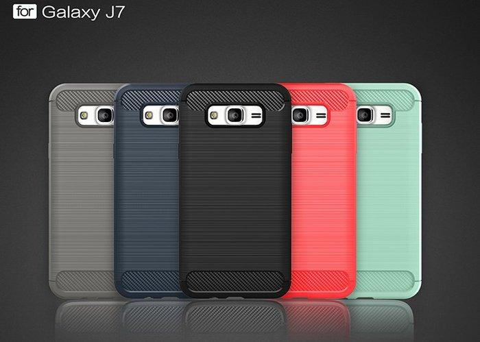 *蝶飛*三星Galaxy J7 J700F 手機殼 SM-J700F 保護殼 SM-J7008 背蓋 保護套 碳纖軟殼