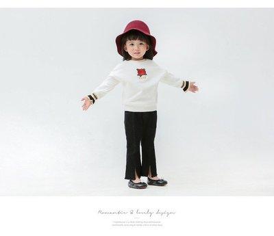 【Mr. Soar】 A178 冬季新款 歐美style童裝女童玫瑰刺繡微絨長袖上衣 現貨