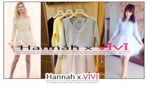 HannahxVIVI 全新 SALE 虧本出清 SNIDEL 繽紛糖果色針織罩衫外套+細肩帶蓬蓬紗裙兩件套裝
