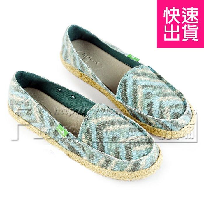 賠售~【SANUK】最新款 山路克 碧藍色 鉛筆塗鴉麻底 平底鞋 女鞋 女款SWF10290 DTZZ