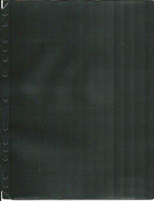 【萬龍】活頁集郵片(黑底)大一格,一包5片,雙面