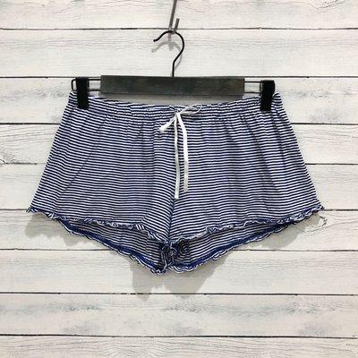 Maple麋鹿小舖 American Eagle * AE 藍色條紋綁帶短褲/睡褲 * ( 現貨S/M號 )