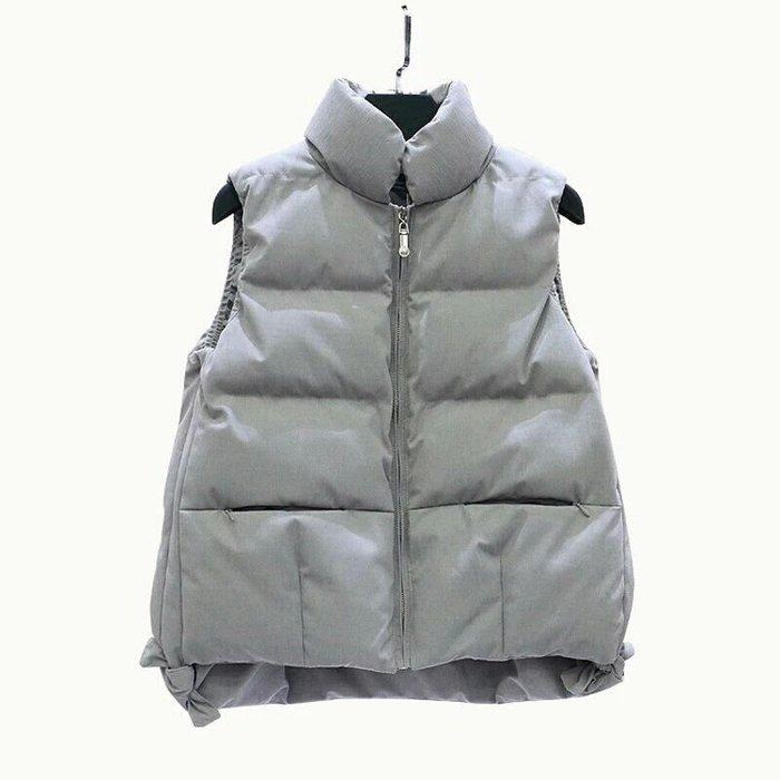 【🎀爆!甜!美!實拍】時尚針織連帽羽絨馬甲/背心外套,前短後長顯瘦設計【白、黑】三色