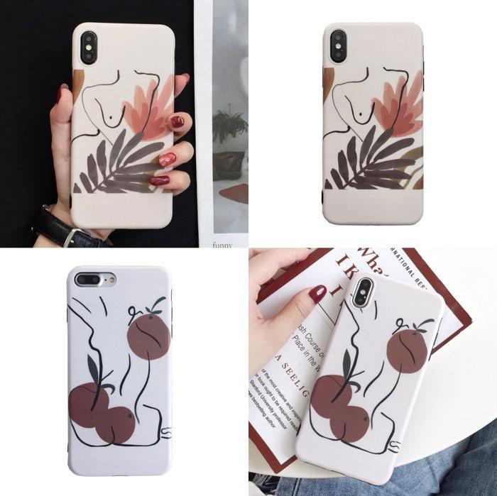 手機殼 ins韓國冷淡風適用iPhoneXsMax手機殼蘋果6s/7/8plus簡約線條軟套