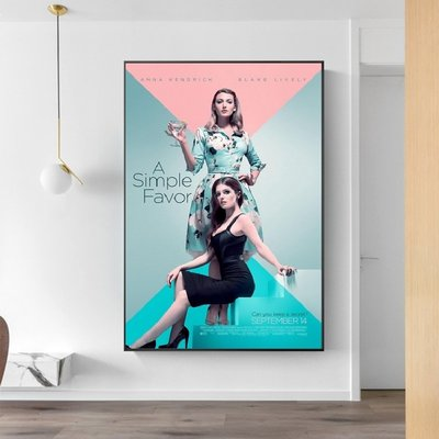C - R - A - Z - Y - T - O - W - N   A Simple Favor失蹤網紅電影海報掛畫布蕾克萊芙莉 安娜坎卓克女星人物裝飾掛畫