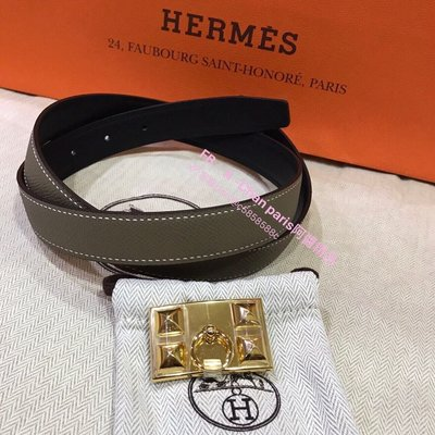 ~阿醬精品~巴黎直送Hermes皮帶CDC金釦80cm