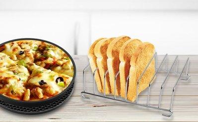 氣炸鍋專用吐司架 家用空氣炸鍋配件麵包架/烤箱吐司烘烤架 蘿蔔糕薯餅 品夏科帥飛利浦都適用