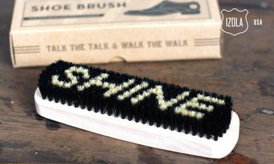 GOODFORIT / 紐約Izola Shoe Brush 50年代原木握柄天然豬鬃耐用毛刷/鞋刷/皮靴護理