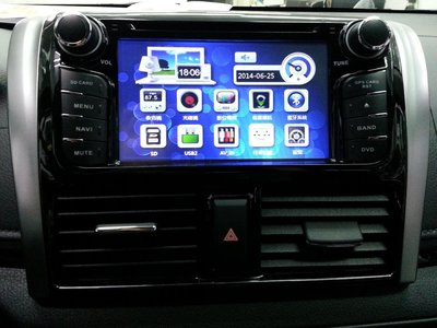 豐田TOYOTA NEW YARIS VIOS專用DVD 主機 內建USB/HD數位/導航/藍芽 2014 YARIS