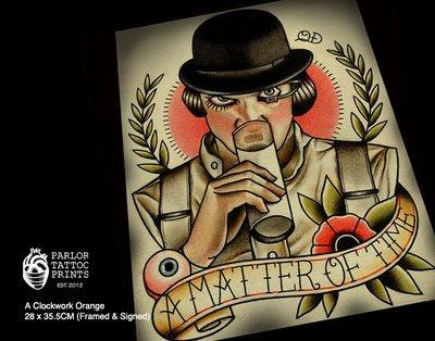 GOODFORIT / 加州Parlor Tattoo A Matter of Time發條橘子主題刺青畫作/含框