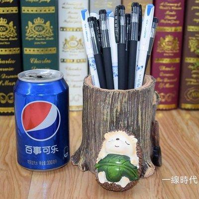 樹脂刺?可愛大筆筒創意時尚桌面擺件個性卡通動物實用裝筆收納盒88折,