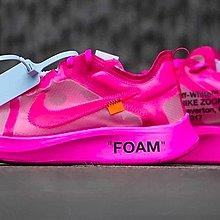 [預購現貨粉紅us10.5賣場] Nike Zoom Fly Off-White pink 限量聯名款 藍標