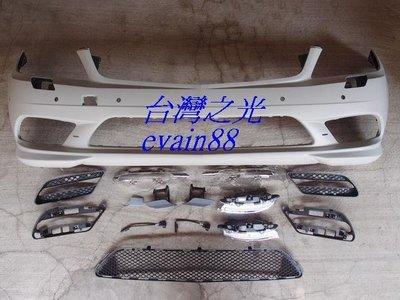 《※台灣之光※》全新BENZ W204 C300 AMG 10 11年歐規樣式前保桿有雷PP材質
