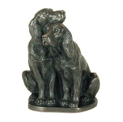 【芮洛蔓 La Romance】Genesis 冷鑄銅雕塑 - 情侶狗 / 情侶可卡 (原價$2580)