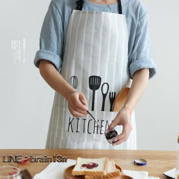 北歐風布藝創意圍裙正韓時尚面包店廚房家居半身圍裙QJ-4