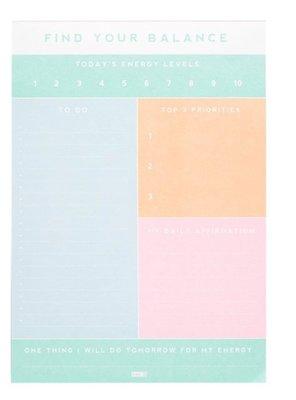 瑞典 KIKKI.K Find Your Balance daily notepad 記事本(預購)