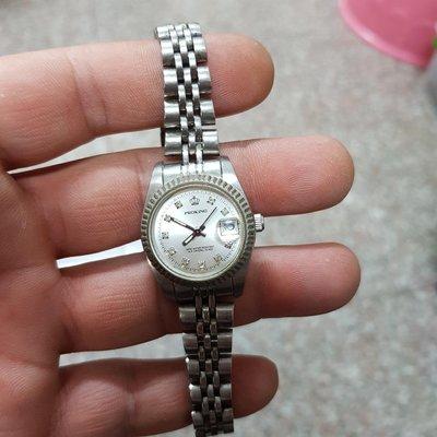 <行走中>漂亮 蠔式不銹鋼女錶 石英錶 錶帶長 另有 水鬼錶 潛水錶 老錶 飛行錶 機械錶 OMEGA TELUX lm D02