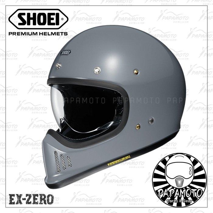 【趴趴騎士】SHOEI EX-ZERO 灰色 山車帽 復古越野安全帽