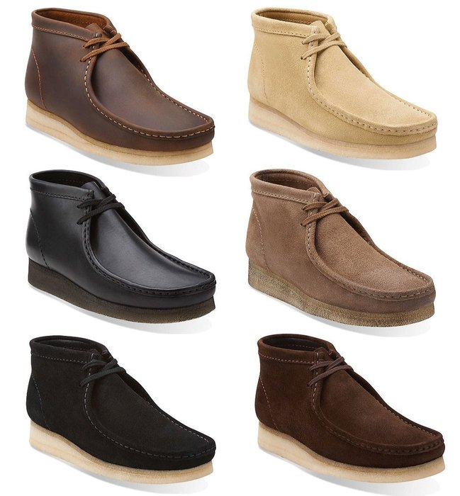 { POISON } CLARKS ORIGINALS WALLABEE BOOT 經典袋鼠鞋中筒靴