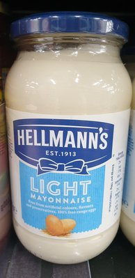 英國 Hellmann's 美乃滋(light) 400g 效期2021/1 light mayonnaise 單瓶價