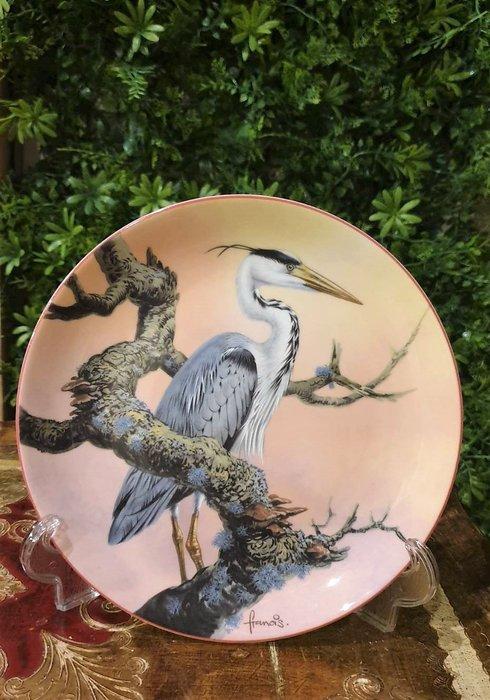 【卡卡頌  歐洲古董】WEDGWOOD 緯緻活 英國(老件未用) 藝術家 簽名 鷺鷥 裝飾盤 p1741 ✬