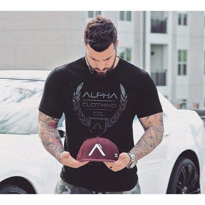 歐美健身服 AP兄弟運動短袖 新款跑步訓練健身透氣T恤潮男休閑時尚T恤打底衫