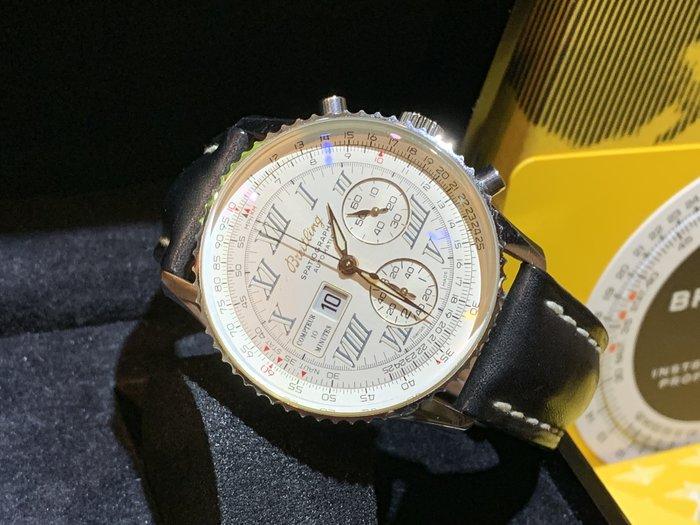 ~路米名品~ BREITLING 百年靈 Montbrillant 41mm 白面 計時 10分鐘顯示 A36030.