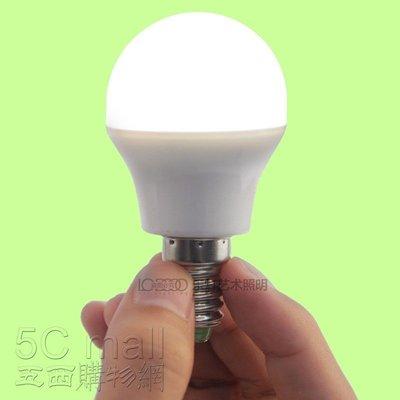 5Cgo~ ~樂燈3W E14 E27 LED節能90% 球泡燈高效燈泡 營業用 美容院220V 10個免 含稅