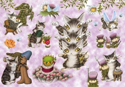 日本正版拼圖 Wachifield 達洋貓  瓦奇斐爾德 216片透明塑膠拼圖,62-16