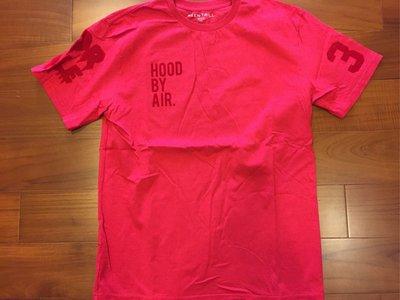 HBA HOOD BY AIR x BEEN TRILL 紅色 Logo 植絨 短袖T恤 L號