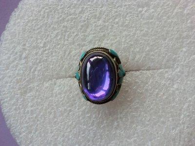 景泰藍.紫鋯石大戒