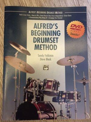 正版 [Alfred's Beginning Drumset Method] 初學爵士鼓必備的第一本課本!附DVD!