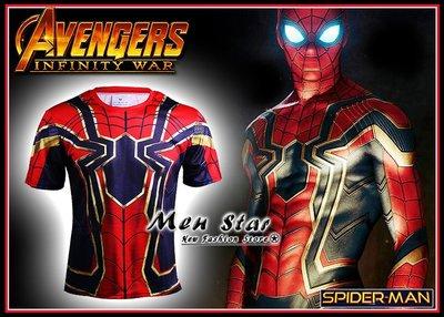【Men Star】免運費 復仇者聯盟3無限之戰 新款蜘蛛人 彼得帕克 運動衣 短T 媲美 Dickies SMUDGE