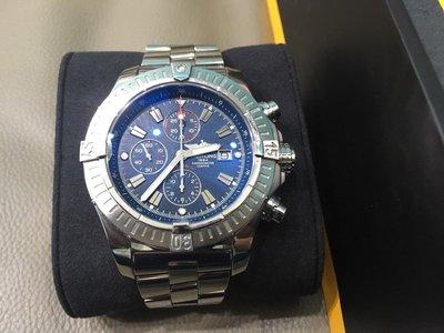 Breitling Super Avenger 百年靈 48mm 機械錶 精品 男 正品 計時腕錶 藍面 PVD 手錶