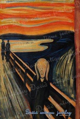 ((天堂鳥)) 1893年蒙克吶喊munch the scream #371|不二價