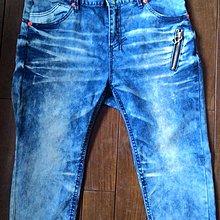 韓國製 blue skin 牛仔褲  XL