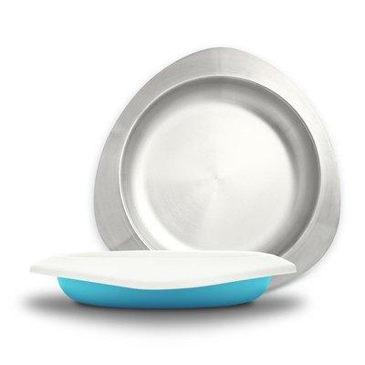 【現貨】QB選物 ❤ VIIDA ❤ Soufflé  抗菌不鏽鋼餐盤-寶貝藍