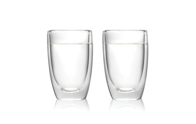D✚L 廚房用品 Amsterdam Glass Drinking Glass 水杯 玻璃杯 保溫杯  一組兩入