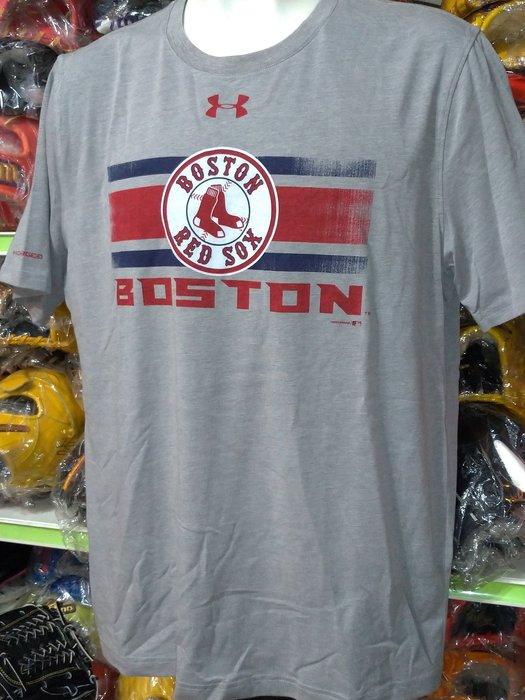 貳拾肆棒球-日本帶回Under Armour UA波士頓紅襪短袖練習衣LG57*75cm