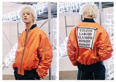 ☆AirRoom☆【現貨】Stereo vinyls MA-1 Bomber Jacket 周湯豪 夾克 外套 橘