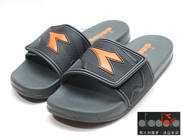 DIADORA男款運動休閒拖鞋 ( DA71139 灰桔)