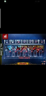 100% new 動漫節 ironman Hall of Armor miniature collectable set mark 1 to 7