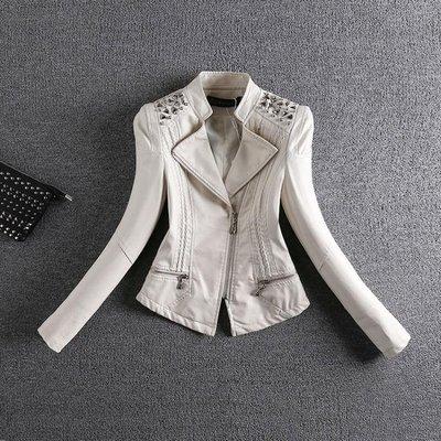 皮衣 天天特價皮衣女韓版百搭外套修身顯瘦小皮夾克短款 交換禮物