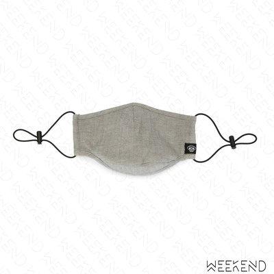 【WEEKEND】 MOSTLT HEARD RARELY SEEN MHRS 素面 可調式束帶 口罩 米灰色